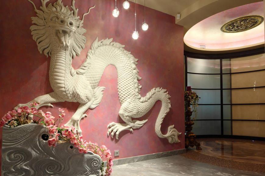 китайский интерьер-лепка