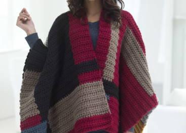 Вязаное пончо для женщин