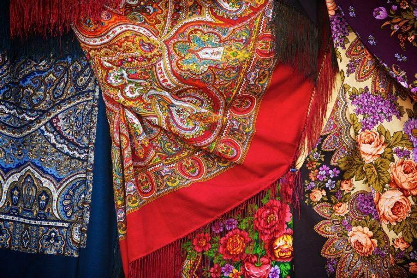 Разнообразие павлопосадских платков