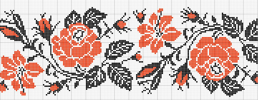 Орнамент для вышивки роза