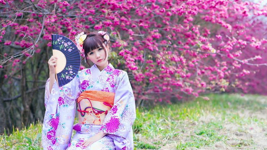Фото девушек в кимоно