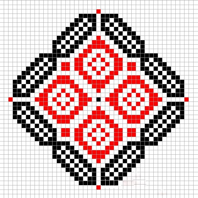 Вышивка Славянский символ ромб
