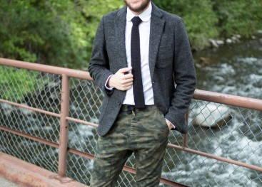 Стильные камуфляжные штаны