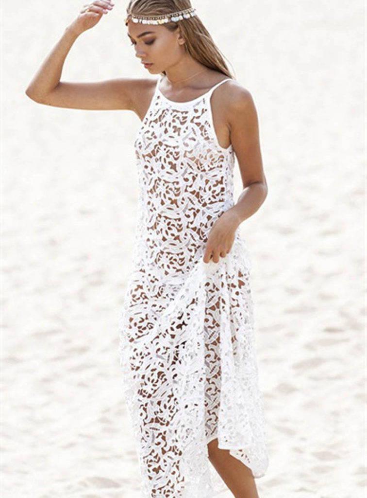 ажурное платье бохо