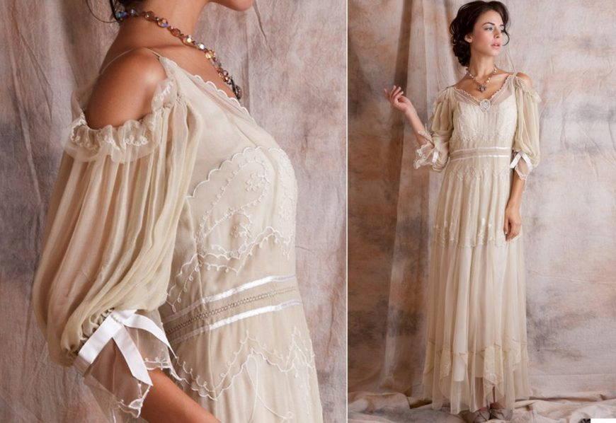 винтажное платье бохо