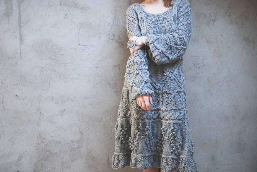 Вязаные платья и туники