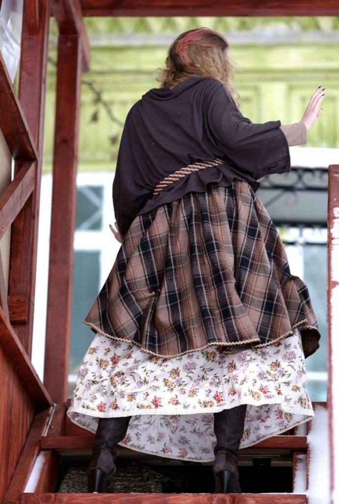 пышная юбка бохо