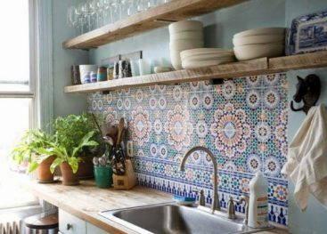 Кухонная мебель в стиле бохо
