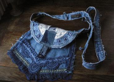 Джинсовые сумки в стиле бохо