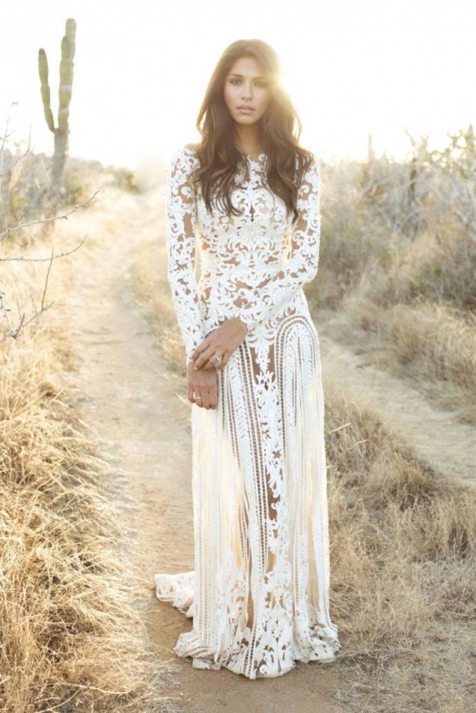 ажурное свадебное платье бохо