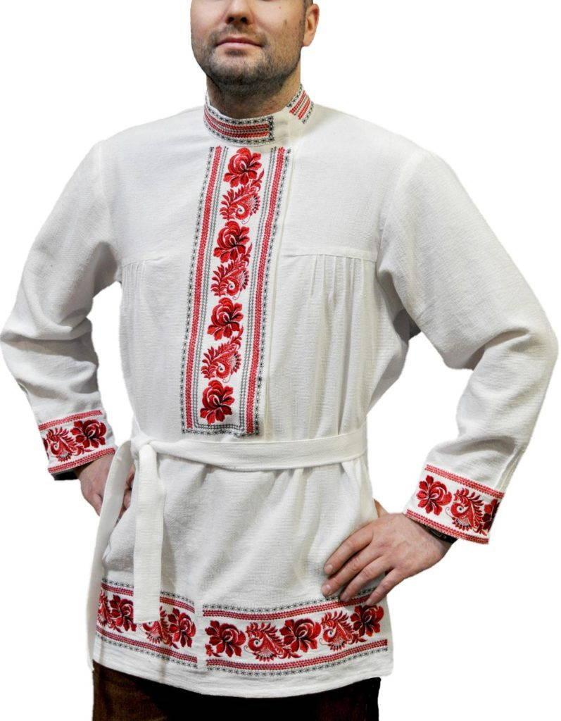 русская рубаха с поясом