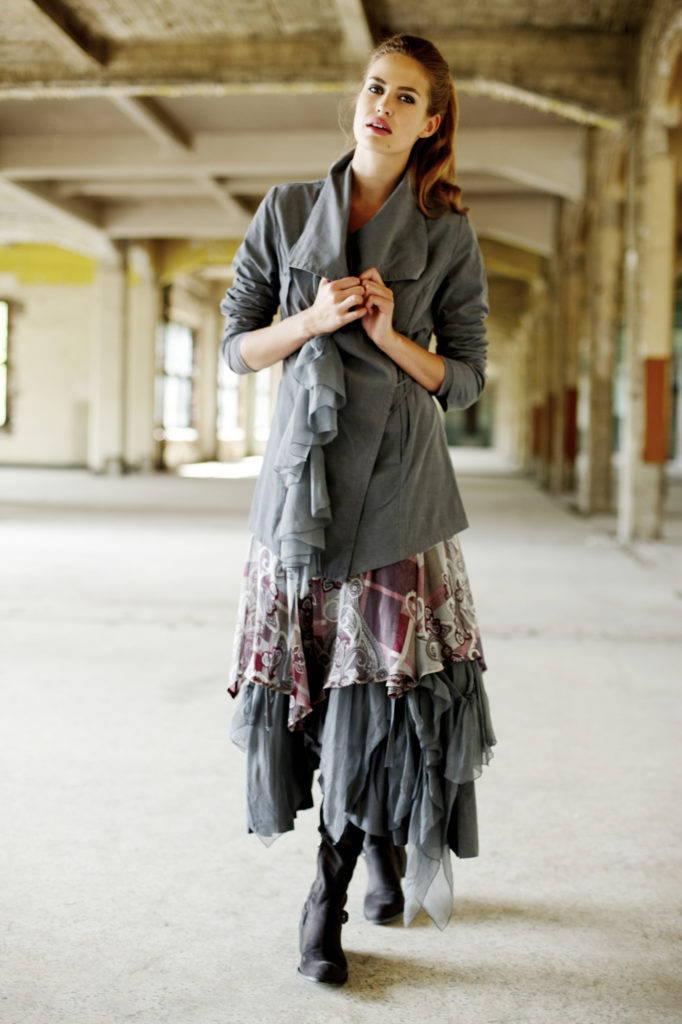 платье бохо свободного покроя