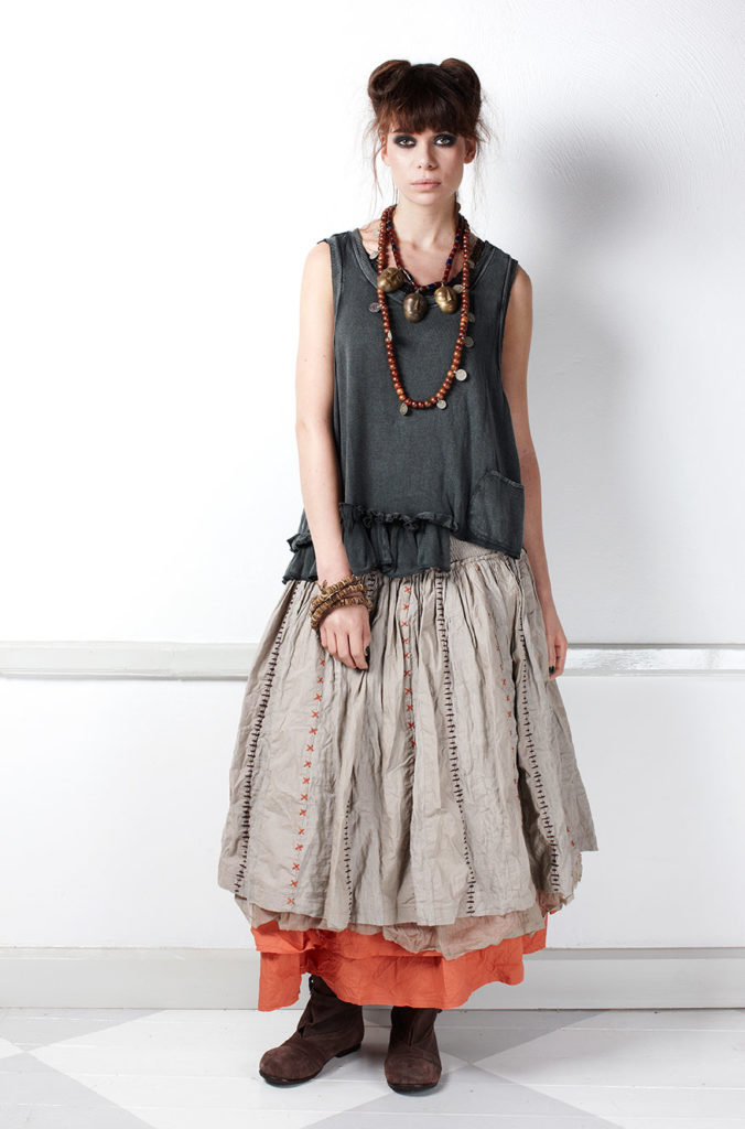 стиль бохо юбка