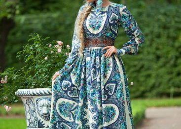 Славянские платья в пол