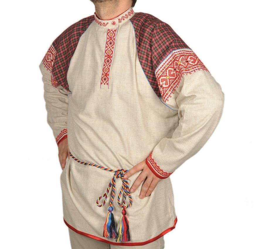 Схема вышивки на мужской рубахе
