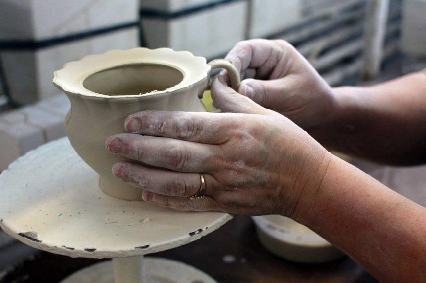 гжель -создание посуды