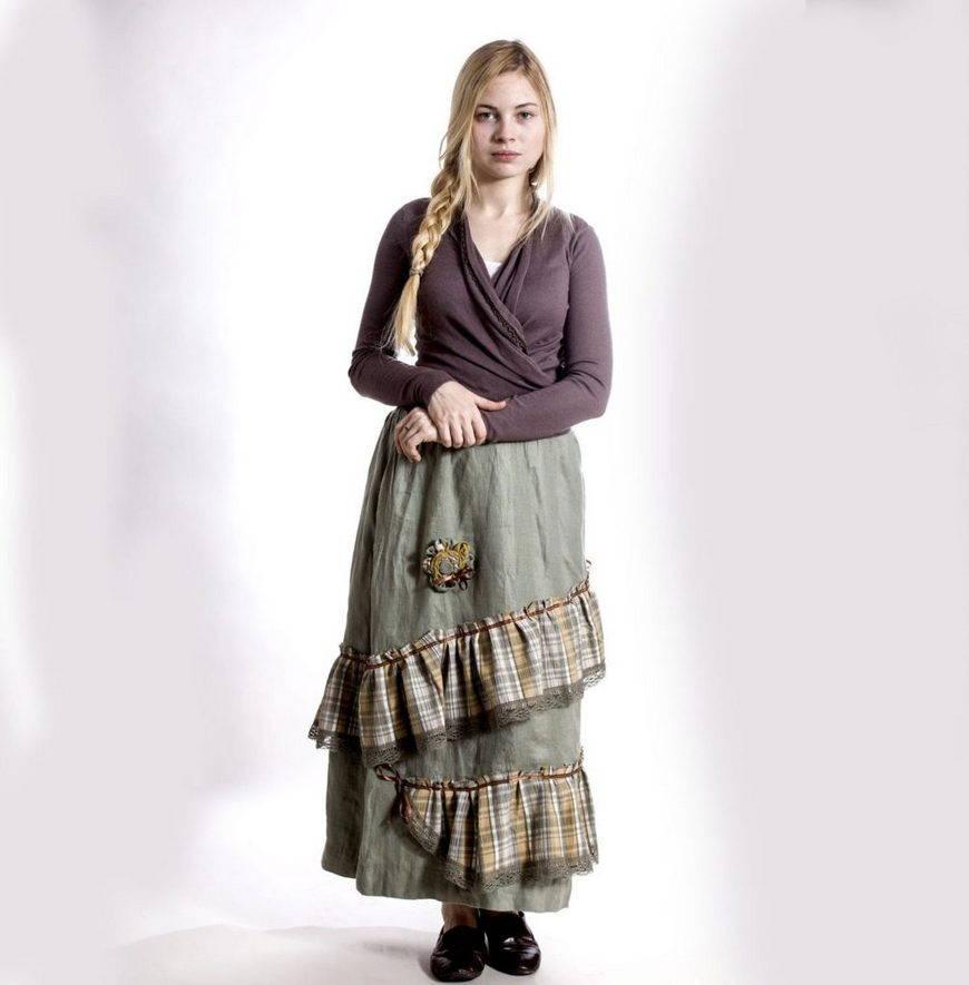 пышная юбка бохо-фактурность