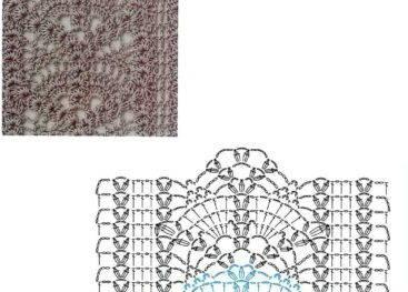 Схемы ажурных узоров