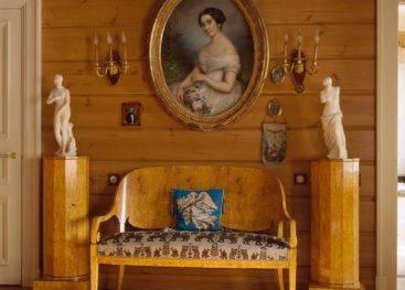 Декор интерьера в стиле русской усадьбы