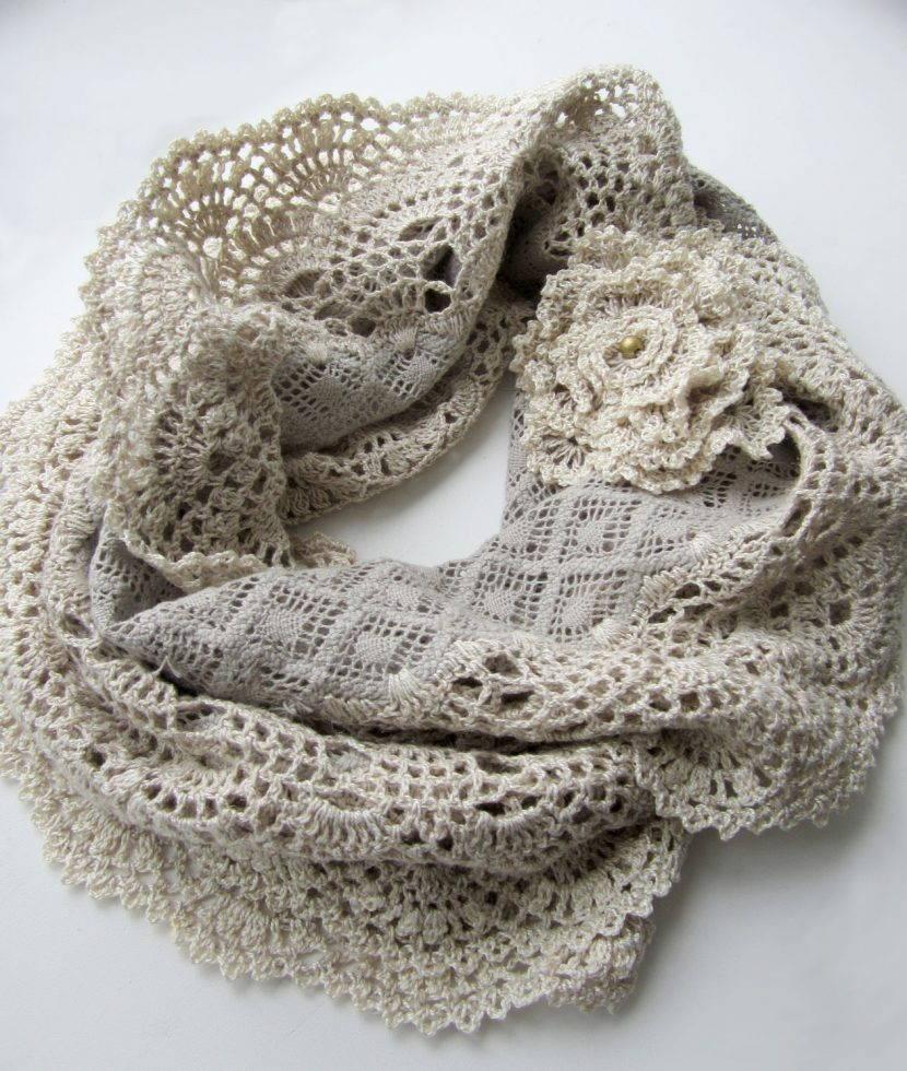 шарф в стиле бохо шик