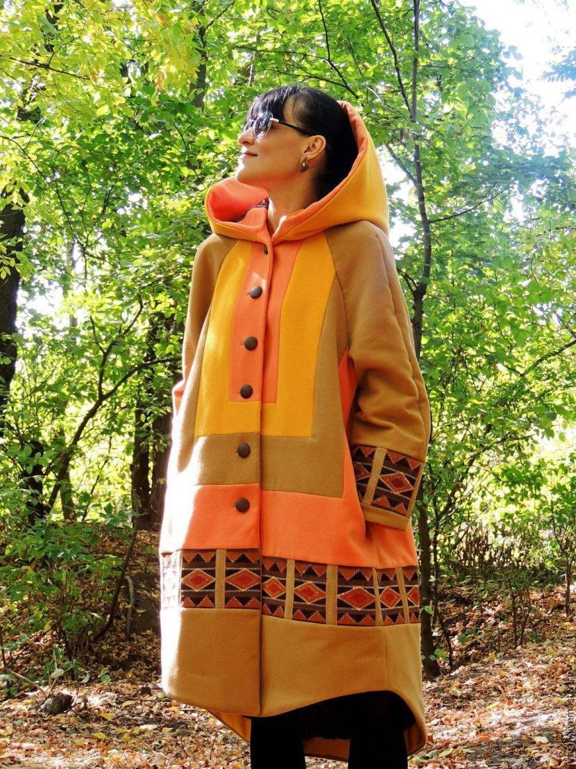 пальто свободное