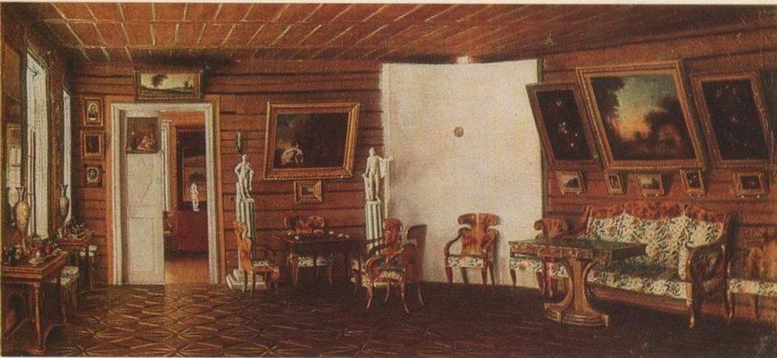 Интерьер дворянской усадьбы с картинками