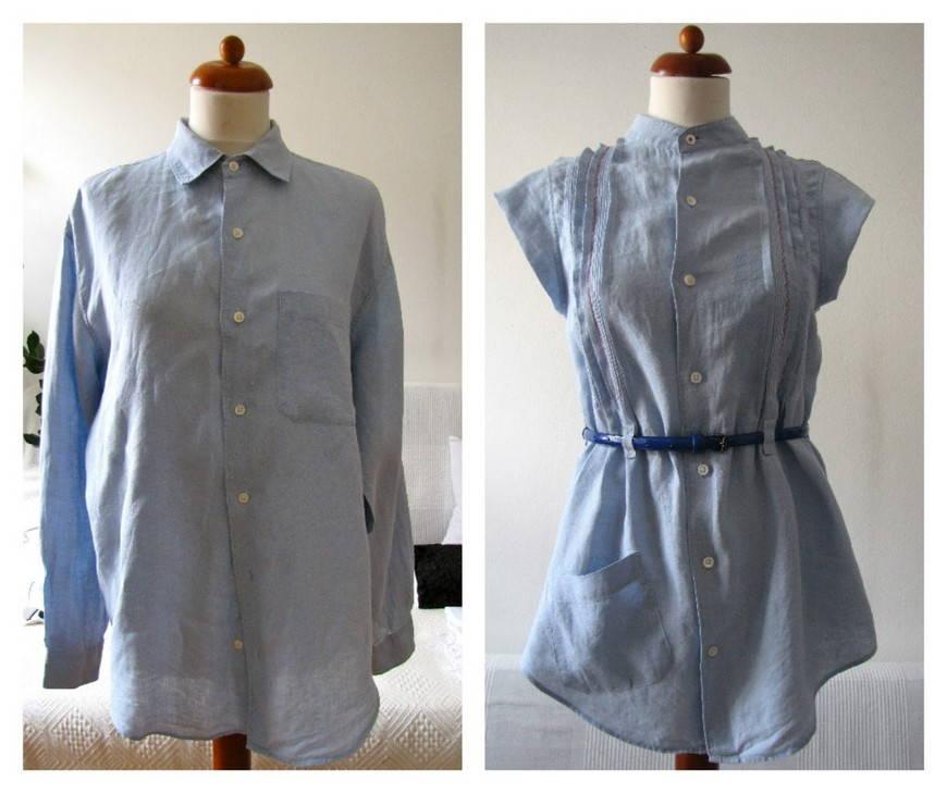 Как из мужской рубашки сделать женскую блузку мастер класс 164