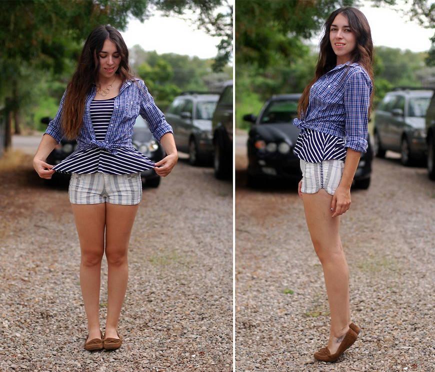 Мокасины с шортами