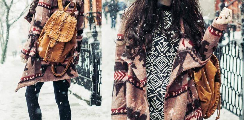 Необычно образ в стиле бохо или самое оригинальное пальто