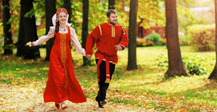 Традиционные свадебные наряды на Руси.
