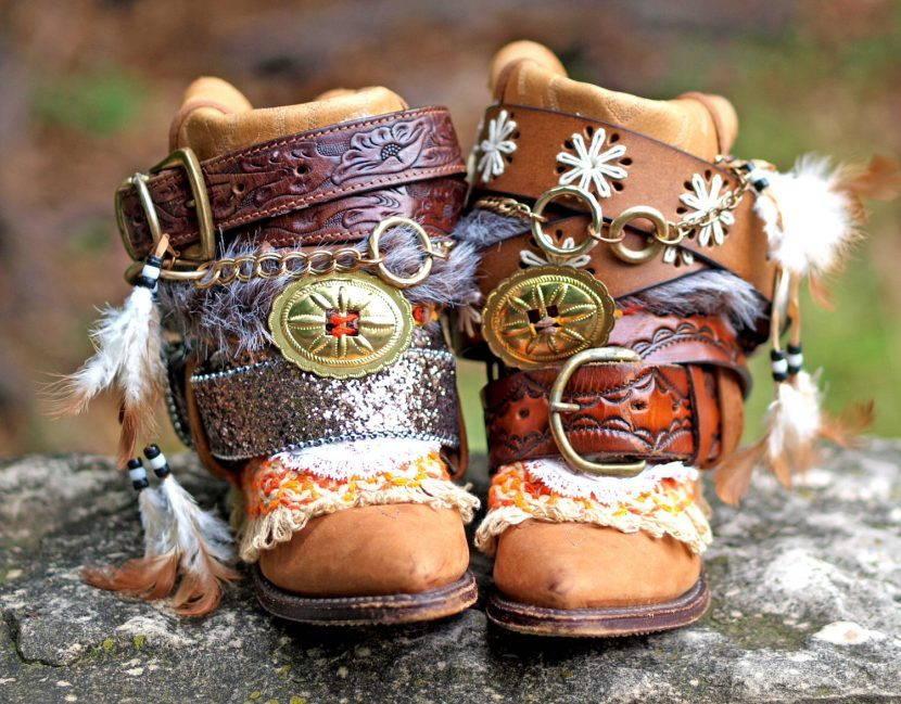 Обувь в стиле хиппи