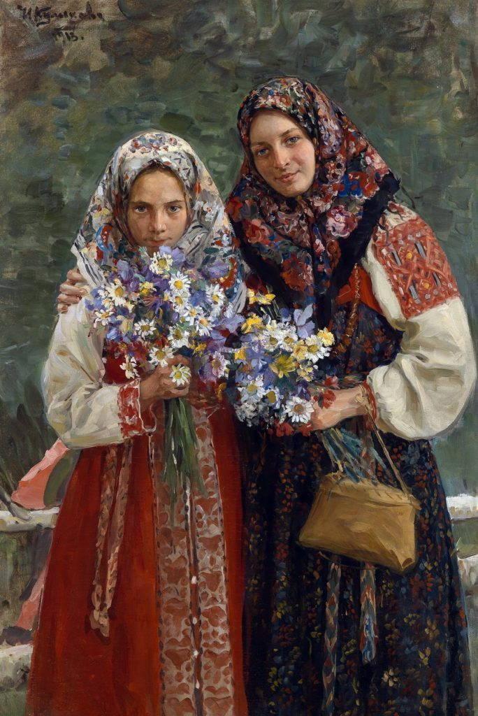 Красочный платок картина