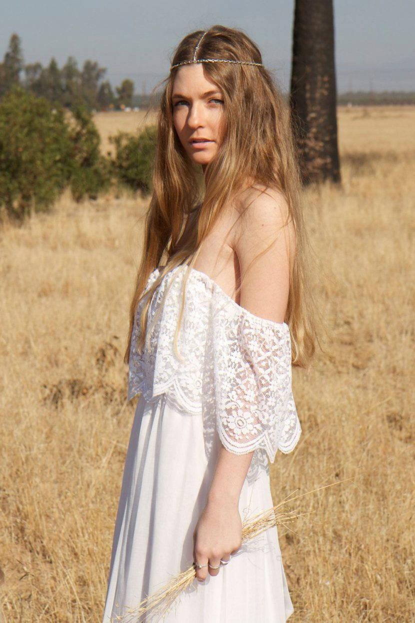 платье в стиле бохо шик.