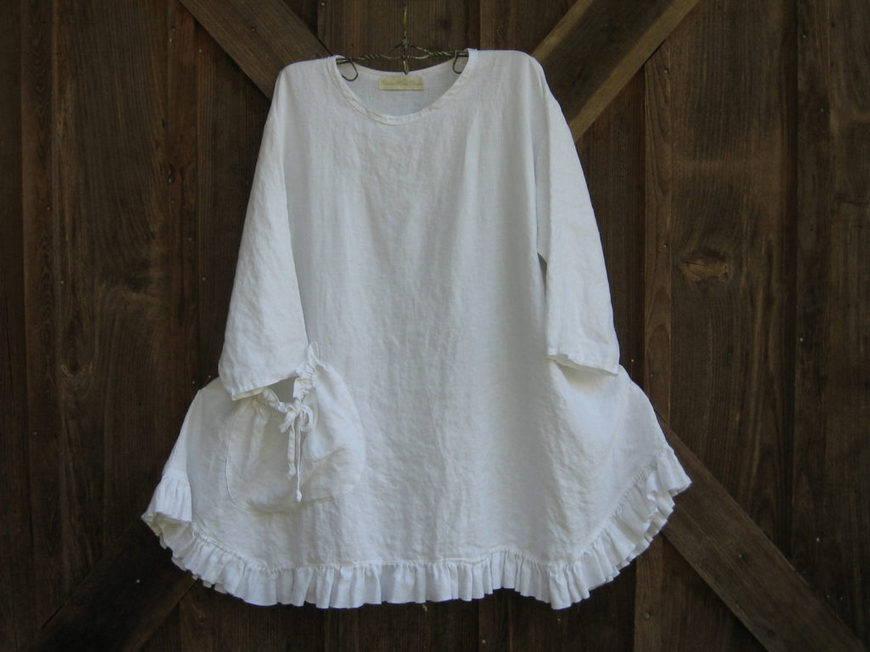 бело платье бохо