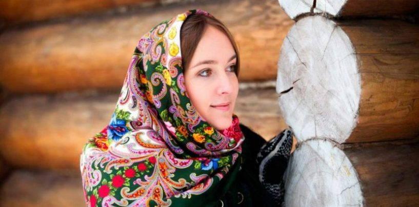 Используем русский народный платок в современном образе