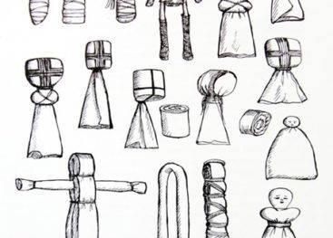 Схемы для создания кукол мотанок