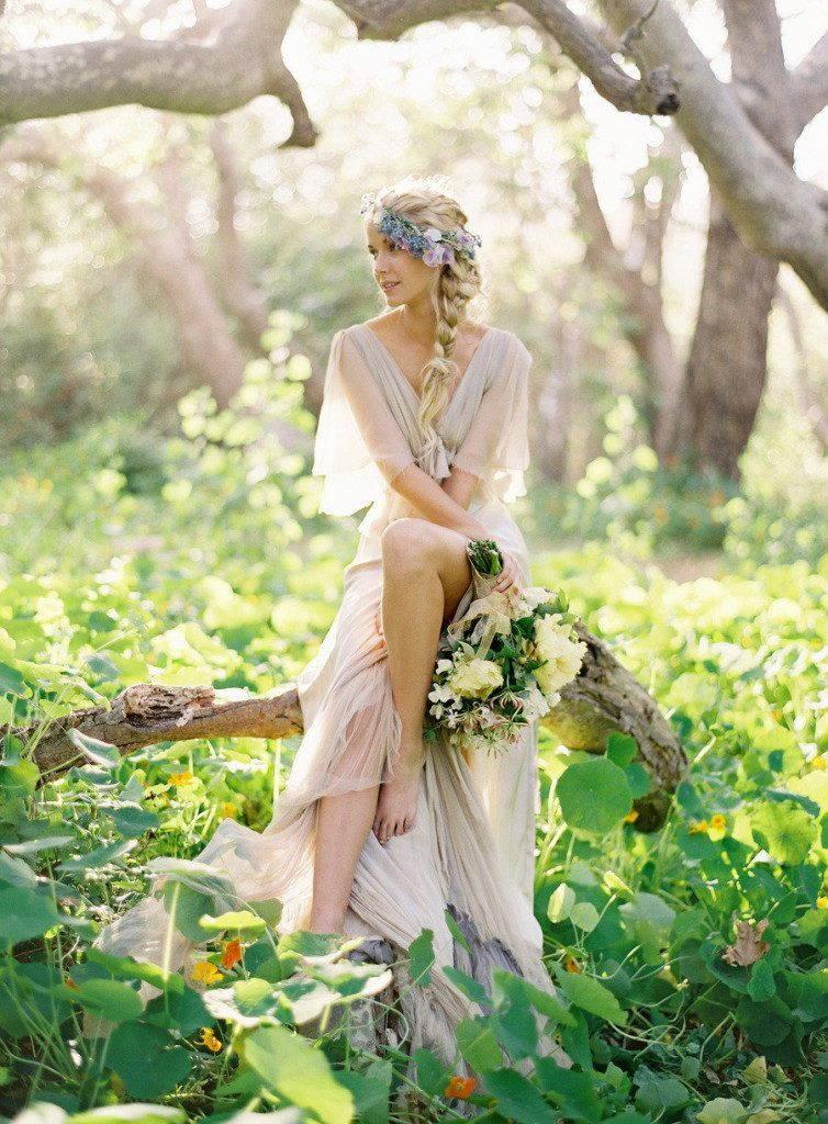 свадебное бохо платье