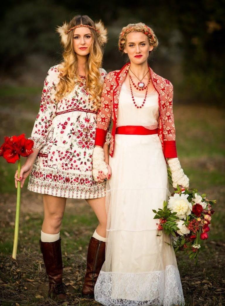 Платья: этнический русский стиль