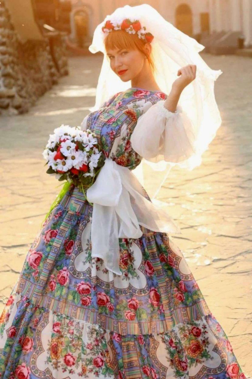 Свадебное платье в руском стиле