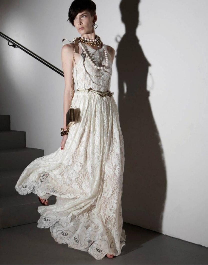 Свадебное платье и украшения в стиле бохо