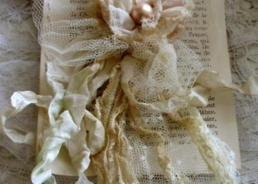 Текстильные цветы в стиле бохо