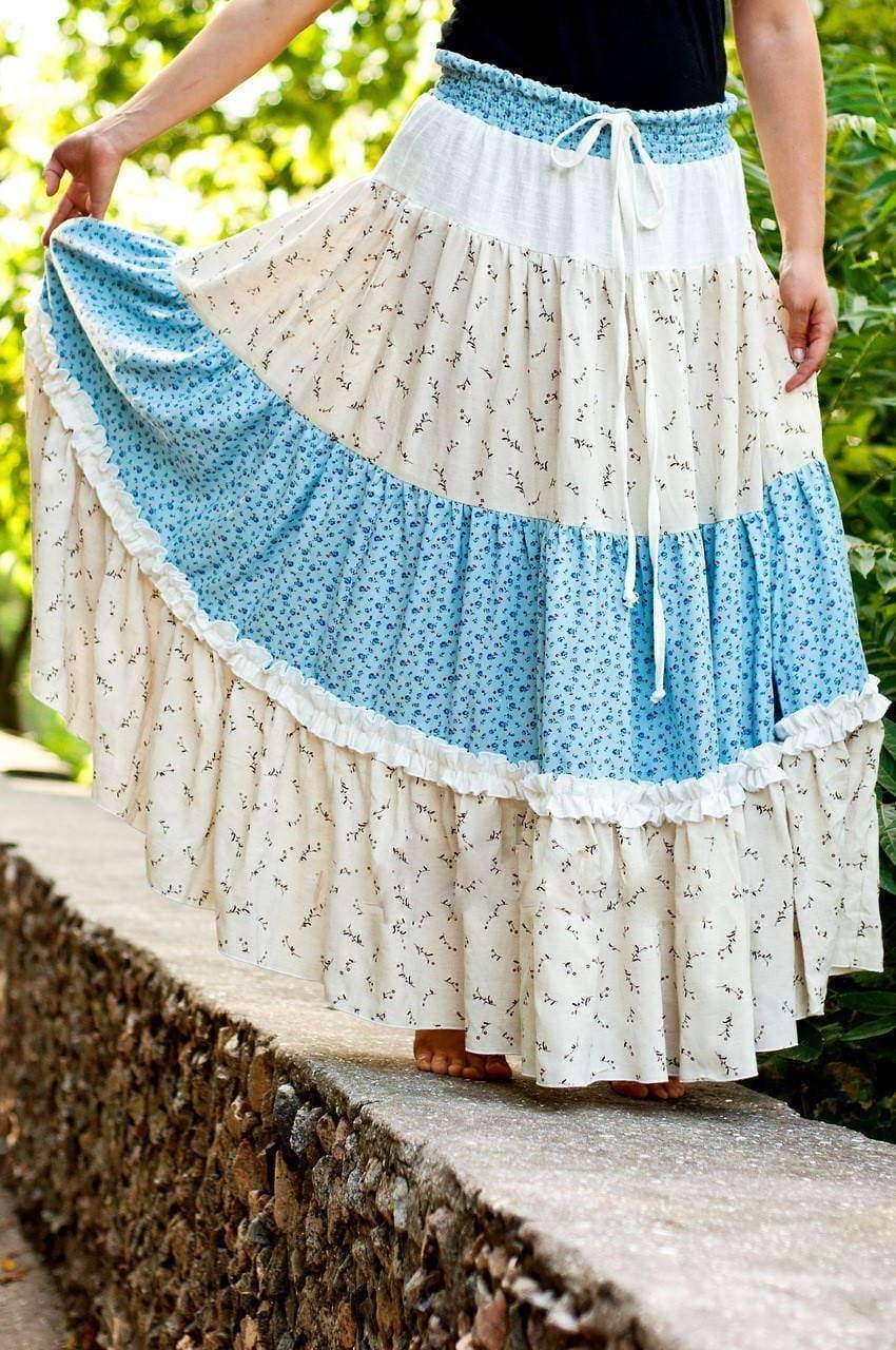 Как сшить юбку из хлопка
