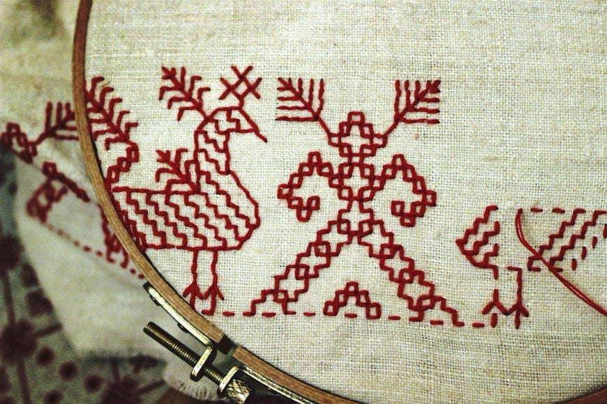 История народной вышивки