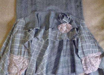 Джинсовая юбка-бохо своими руками