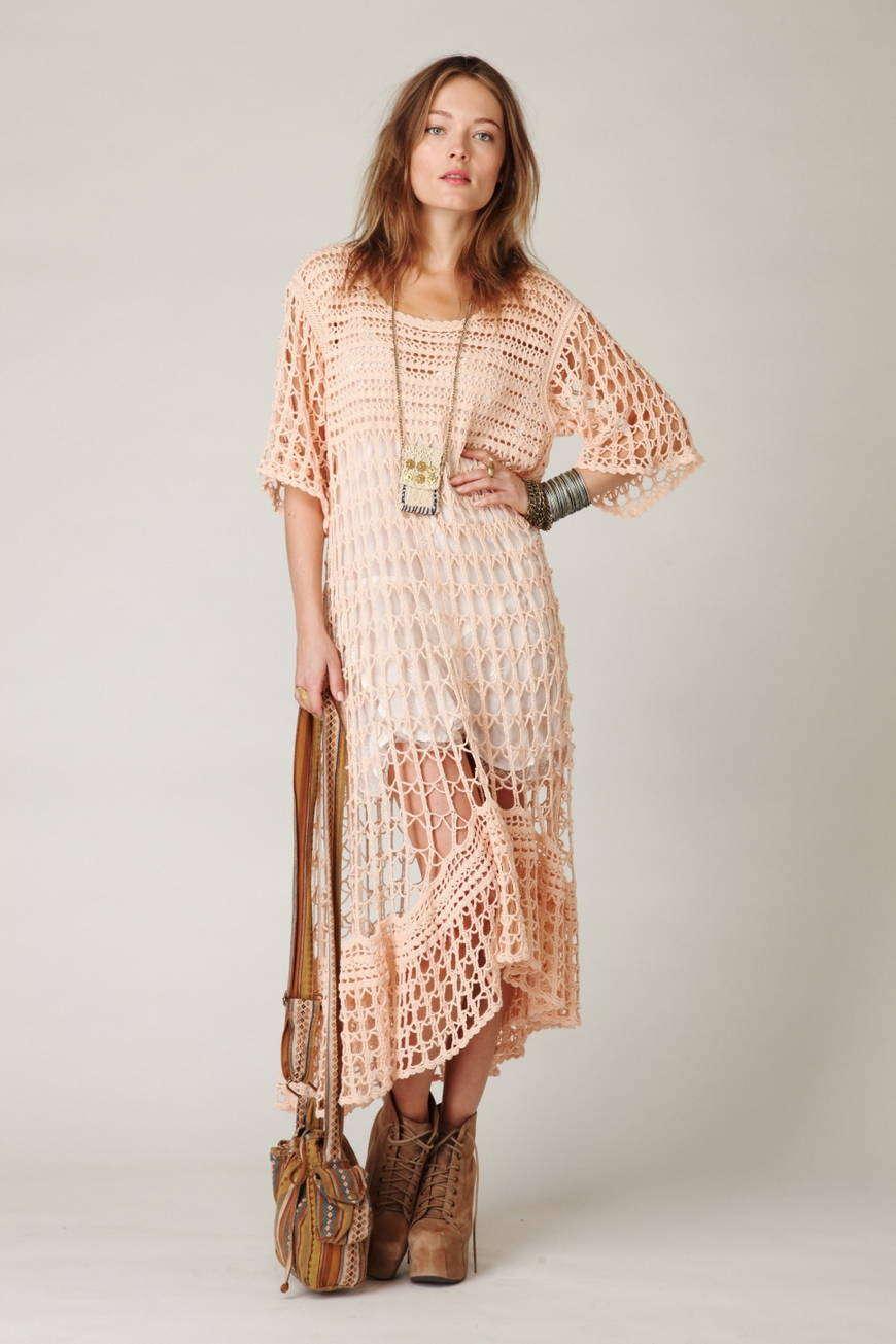 Стиль одежды бохо вязание