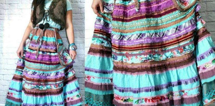 Подбираем выкройку и делаем стильную юбку в стиле бохо своими руками