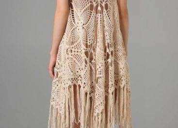 Вязаное платье в стиле бохо