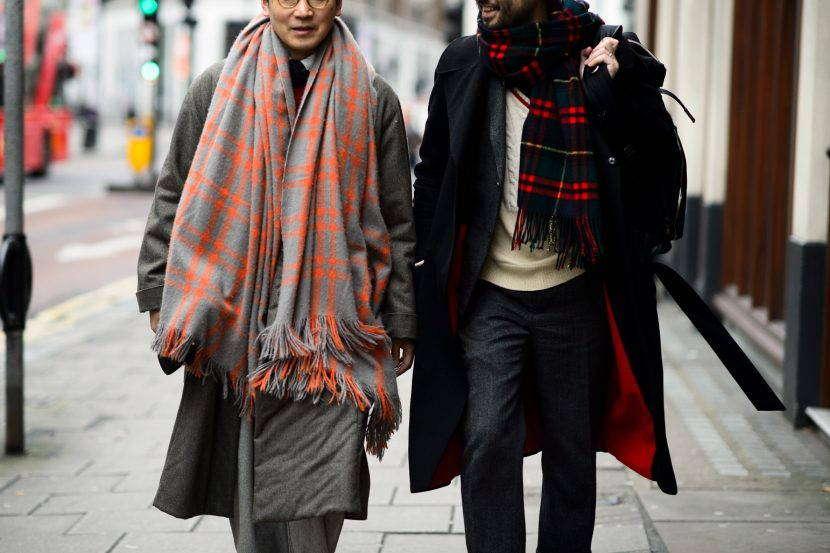 Мужские шарфы бохо