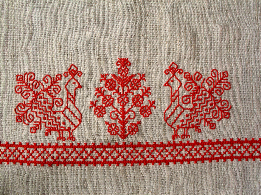 вышивка лен