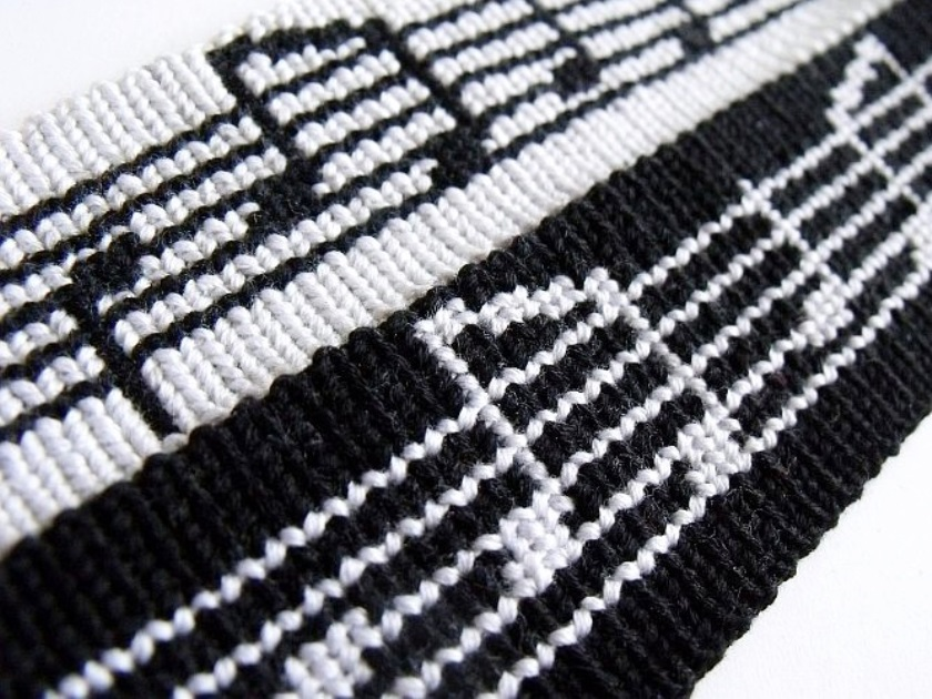 бело-черный браслет